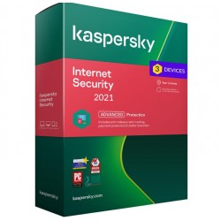 Kaspersky Internet Security 3 Device 1 Year LIcense Box